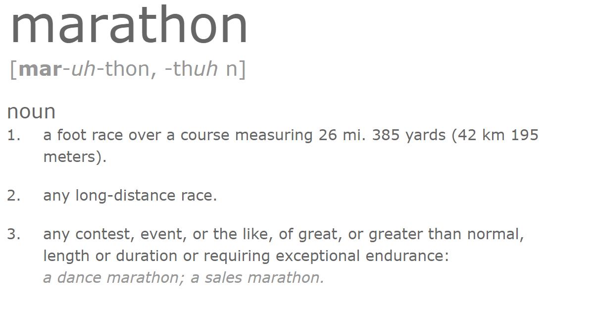 Marathon Definition