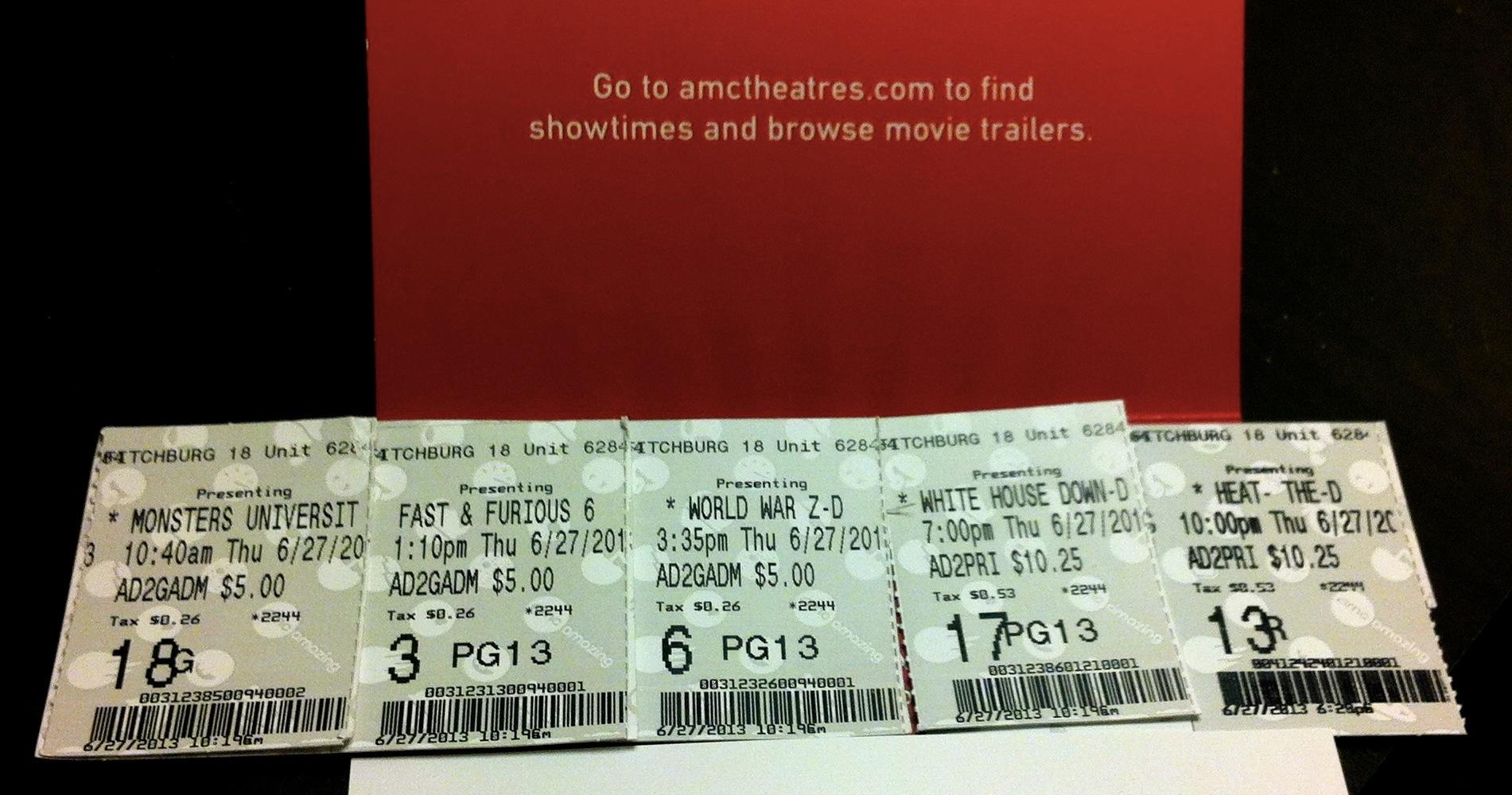 Summer Movie Marathon Tickets