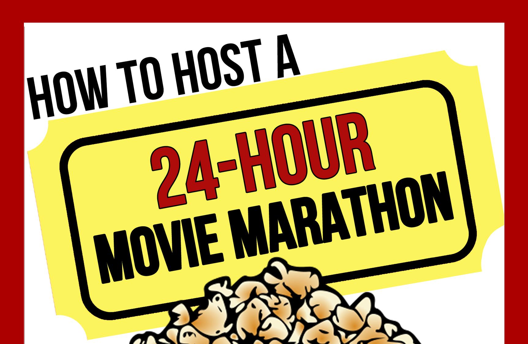 Movie Marathon Book Cover (Half)