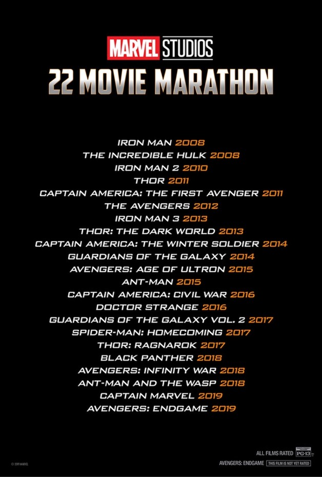 Infinity Saga Movie List