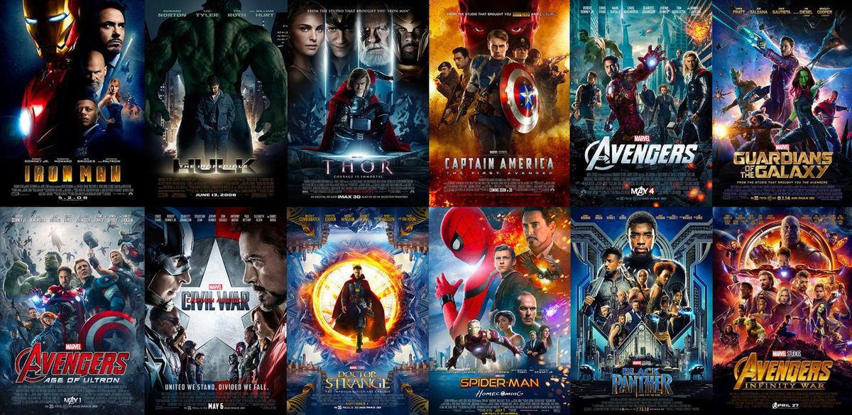 Marvel Movie Marathon Posters